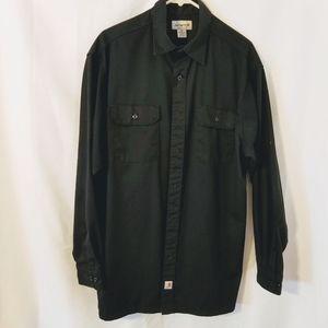 Carhartt Men's Black Long Sleeve Shirt Size XL